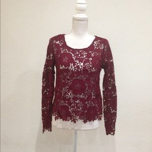 H&M Lace Long Sleeves Top